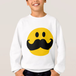 Kids' American Apparel Organic T-Shirt with Mustache with Monocle Smiley design