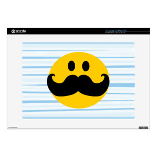 """Mustache Smiley Decals For 15"""" Laptops"""