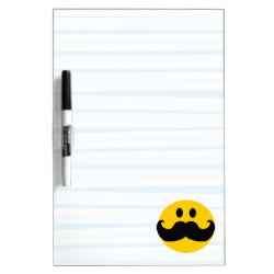 Medium Dry-erase Board with Mustache with Monocle Smiley design