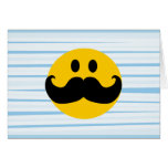 Mustache Smiley Greeting Cards