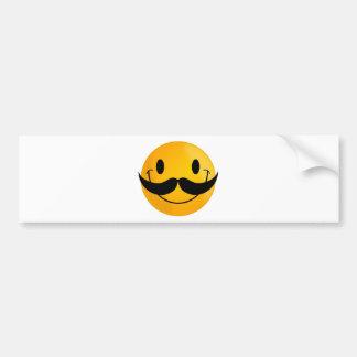 mustache smiley happy smiling bumper sticker