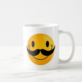 mustache smiley happy smiling coffee mug