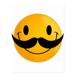 mustache smiley happy smiling postcard