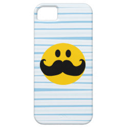 Case-Mate Vibe iPhone 5 Case with Mustache with Monocle Smiley design