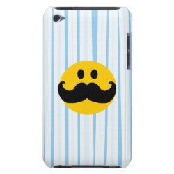 Case-Mate iPod Touch Barely There Case with Mustache with Monocle Smiley design