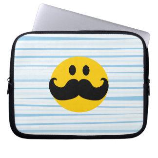 Mustache Smiley Laptop Computer Sleeves