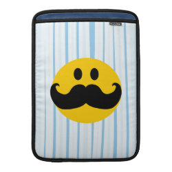 Macbook Air Sleeve with Mustache with Monocle Smiley design