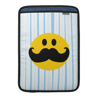 Mustache Smiley MacBook Sleeve