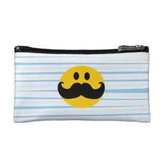 Mustache Smiley Makeup Bags