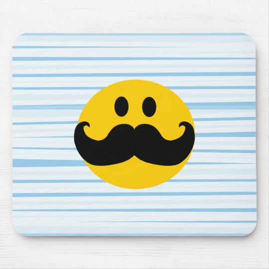Mustache Smiley Mouse Pad