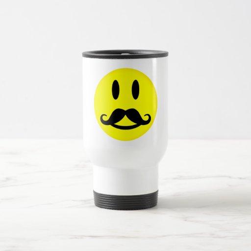 Mustache Smiley mug - choose style, customize