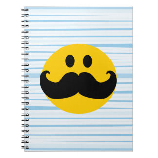 Mustache Smiley Notebook