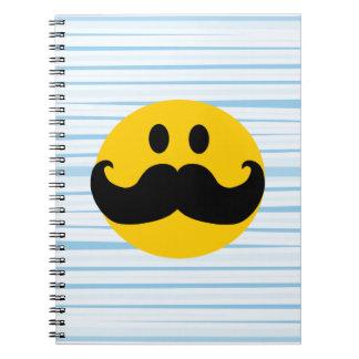 Mustache Smiley Notebooks