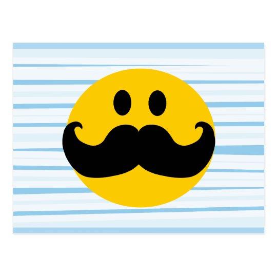 Mustache Smiley Postcard
