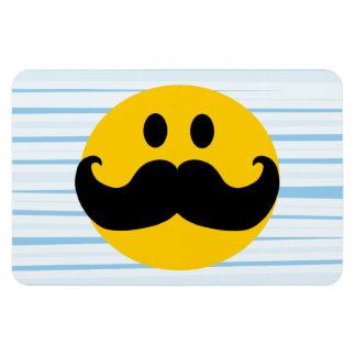 Mustache Smiley Rectangular Photo Magnet