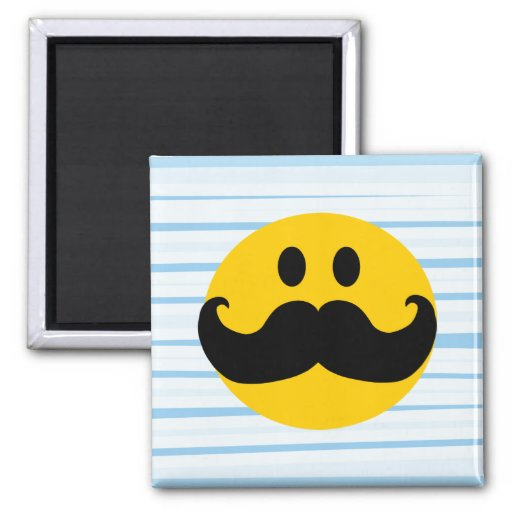 smiley face fridge magnets mustache smiley refrigerator magnets zazzle 5443