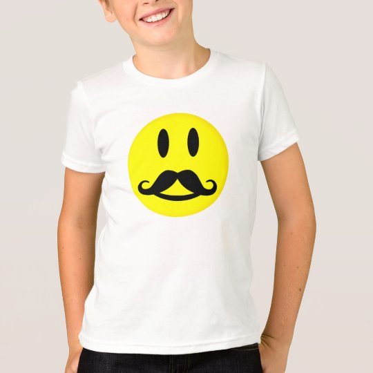 Mustache Smiley shirt - choose style, customize