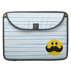 Macbook Pro 15' Flap Sleeve with Mustache with Monocle Smiley design