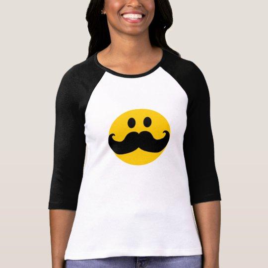 Mustache Smiley T-Shirt