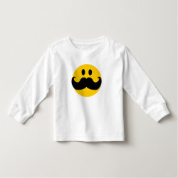 Toddler Long Sleeve T-Shirt with Mustache with Monocle Smiley design