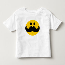 Toddler Fine Jersey T-Shirt with Mustache with Monocle Smiley design