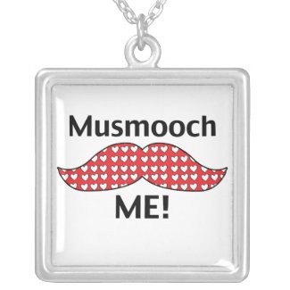 Mustache Smooch Me Pendants
