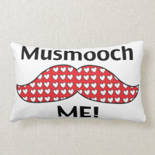 Mustache Smooch Me Pillows
