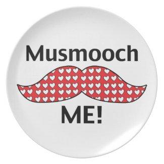 Mustache Smooch Me Plate