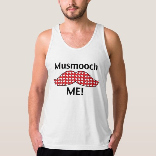 Mustache Smooch Me Tank Top