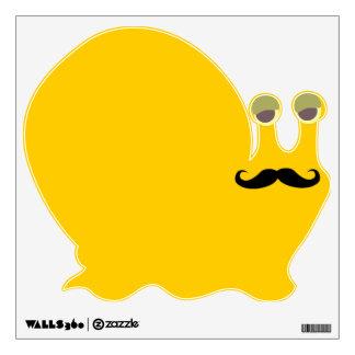 Mustache snail wall sticker