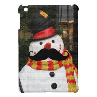 Mustache & Snowman Cover For The iPad Mini