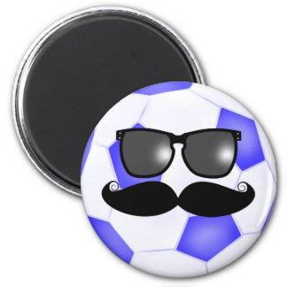 Mustache Soccer Magnet