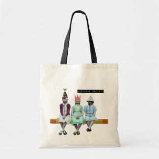Mustache Society Vintage Image Tote Bag