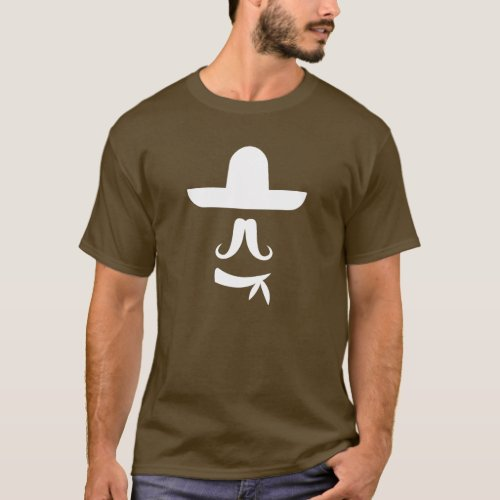 Mustache  Sombrero Pictogram T_Shirt