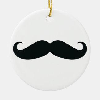 Mustache Stache Ceramic Ornament