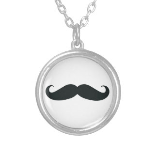 Mustache Stache Silver Plated Necklace