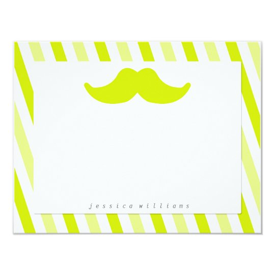 Mustache Stationery Card