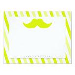 Mustache Stationery Custom Announcement