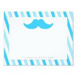 Mustache Stationery Custom Invites