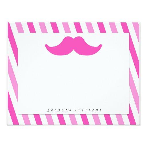 Mustache Stationery Invite