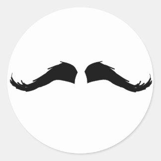 Mustache Round Stickers