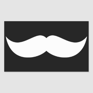 Mustache Rectangle Stickers