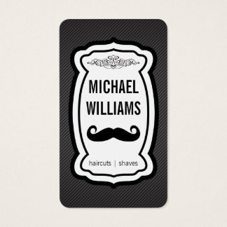 Mustache / Stripes (black) Business Card