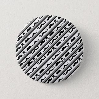 Mustache Stripes Button
