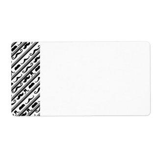 Mustache Stripes Label