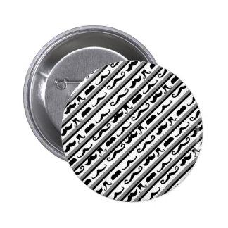 Mustache Stripes Pin