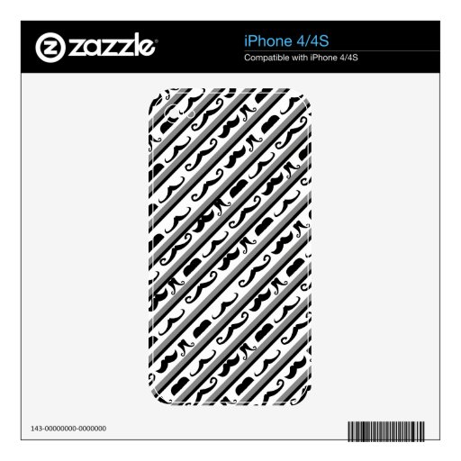 Mustache Stripes Skins For The iPhone 4S