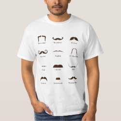 Men's Crew Value T-Shirt with Mustache Style ID Chart design