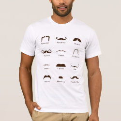 Men's Basic American Apparel T-Shirt with Mustache Style ID Chart design