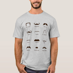 Men's Basic T-Shirt with Mustache Style ID Chart design